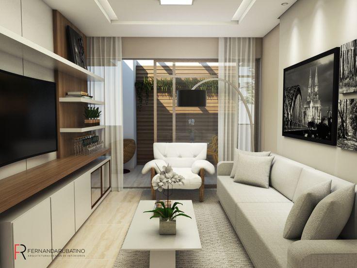 Sala de estar apartamento S|M - projeto Rubatino Arquitetura.  #kitchen #cozinhas #interiordesign