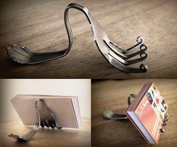 fork cook book holder