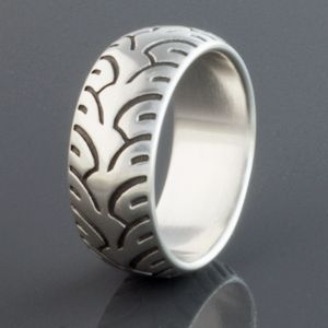 Brian Bergeron designs ring: motorcycle tire, fat.