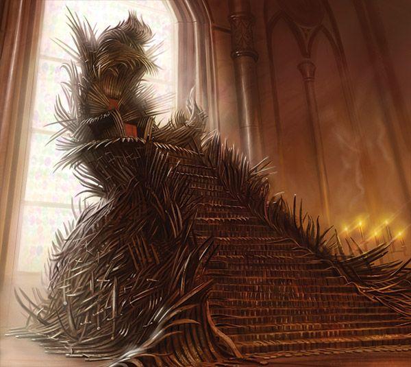 como o trono de ferro realmente é nos livros