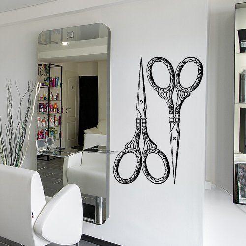 1000 images about salon ideas on pinterest bathrooms for Stickers design salon