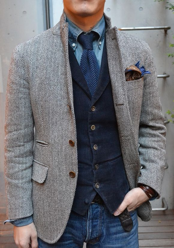 Men's Fashion Basics - Layering & Fabric Combinations #fashion