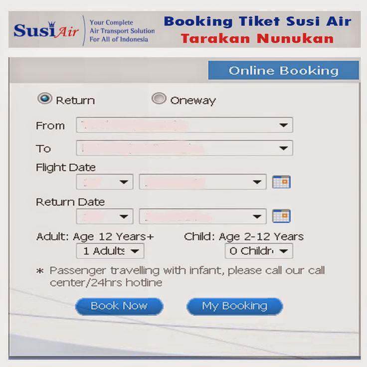 Booking ataupun pemesanan tiket online Susi Air penerbangan dari Tarakan ke Nunukan dan dari Nunukan ke Tarakan Berangkat/ pulang/ pergi tanggal 1, 2, 3, 4, 5, 6, 7, 8, 9, 10, 11, 12, 13, 14, 15, 16, 17, 18, 19, 20, 21, 22, 23, 24, 25, 26, 27, 28, 29, 30, 31 bulan Januari, Februari, Maret, April, Mei, Juni, Juli, Agustus, Sebtember, Oktober, Nopember, Desember.  Penerbangan yang dipilih  Tarakan (Juwata) (TRK)  Ke  Nunukan ( Nunukan ) (NNX)