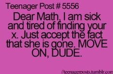"AnonPink: oh get over yourself algebra. and DONT ASK ME ""y"" SHE'S GONE, HONESTLY."
