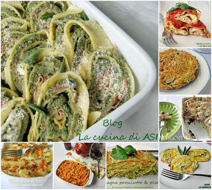 Primi piatti al forno sono preparazioni che fanno pensare al pranzo della domenica al pranzo della festa ..lasagne timballi pasticci e altro! La cucina di ASI