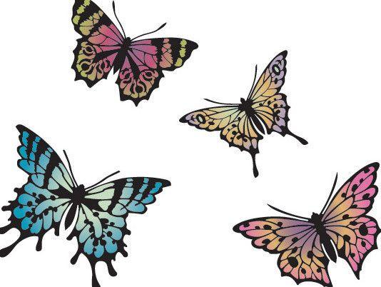 Stencils | Papillon Butterfly Stencil Set | Royal Design Studio