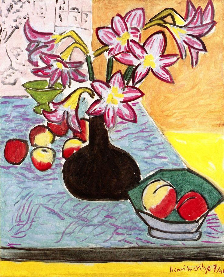 Henri Matisse, 1941, Vase of Amaryllis