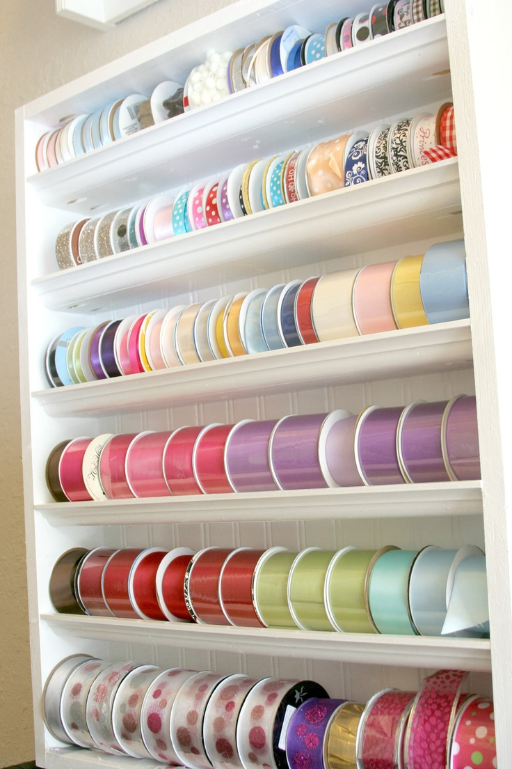 Scrapbook ideas with ribbon - Ribbon Storage From Etsy