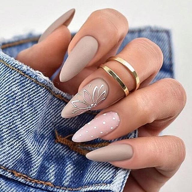 The Gray Matte Nail Color Is Very Beautiful And Can Give A High Quality Texture Suitable For A Variety Of Skin Colo Matte Nails Design Nail Effects Fake Nails