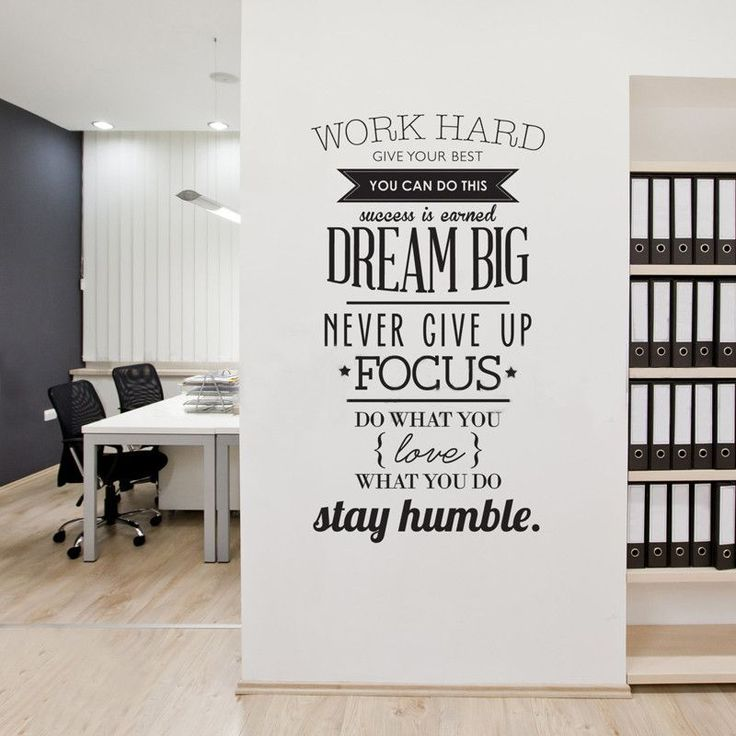 Wall Decals Quotes Work Hard Vinyl Wall Sticker Letras Decorativas Office  Home Decoration Wall Art Wall