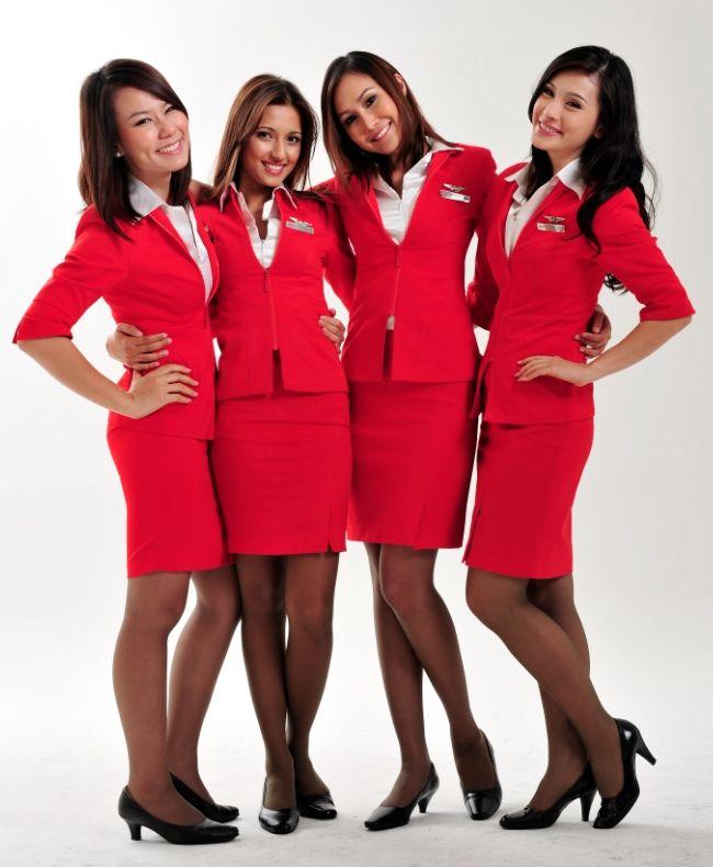 AirAsia flight attendants keep going red! ~ World stewardess Crews