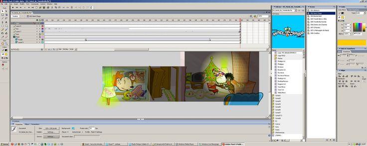 edição no Flash da animação O Natal do Tomelirolla, do mundo canibal http://4.bp.blogspot.com/__liCoNAmoXI/R2vgLu6oSDI/AAAAAAAAAMU/4U3xQLVyZyg/s1600/tela001.jpg