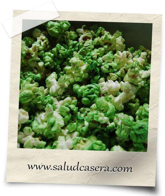 Receta Popcorn (Palomitas de maíz saludables) con Clorela, chaga y espirulina