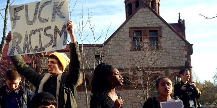 On Monday afternoon, protesters around the country took to the streets to peacefully protest a grand jury's decision not to indict Ferguson Police Officer Darren Wilson for the killing of 18-year-old Michael Brown. Among the demonstrators were a numb...