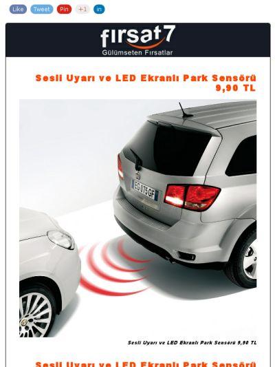 Sesli Uyarı ve LED Ekranlı Park Sensörü 9,90 TL