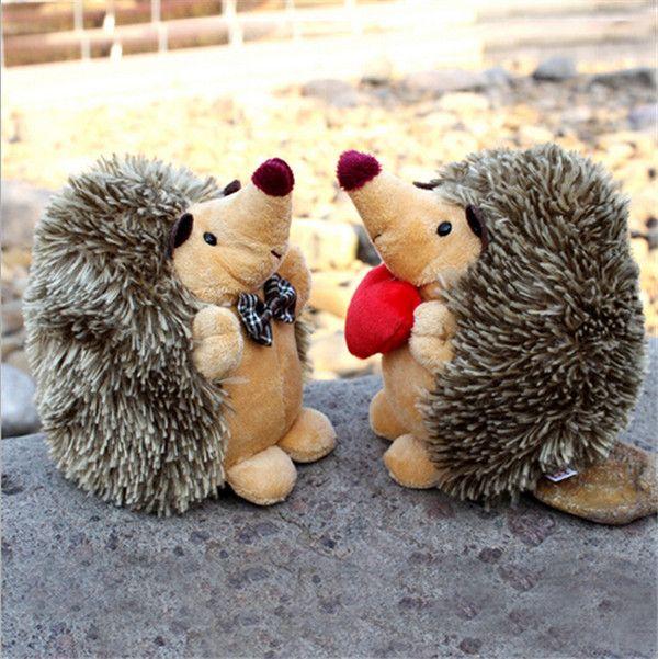 2015 new creative plush toy doll hedgehog cartoon Grapple couple doll plush doll car home essential