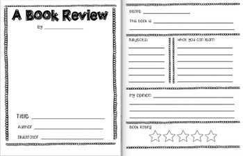 This file includes book review templates for fiction and non-fiction books. The create-your-own-cover page is intended for both types of books. I have also included an instructional page that is kid-friendly. I intend to laminate one of each kind of book review for us to complete as a class - I will cut and laminate the instructions to post next to our examples for the kids to refer to!
