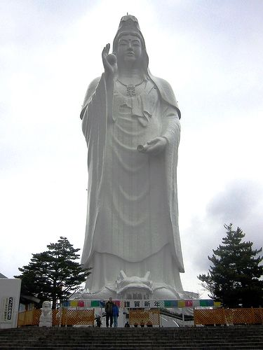Sendai Daikannon    This 100-meters-high statue lies in the city of Sendai, Japan