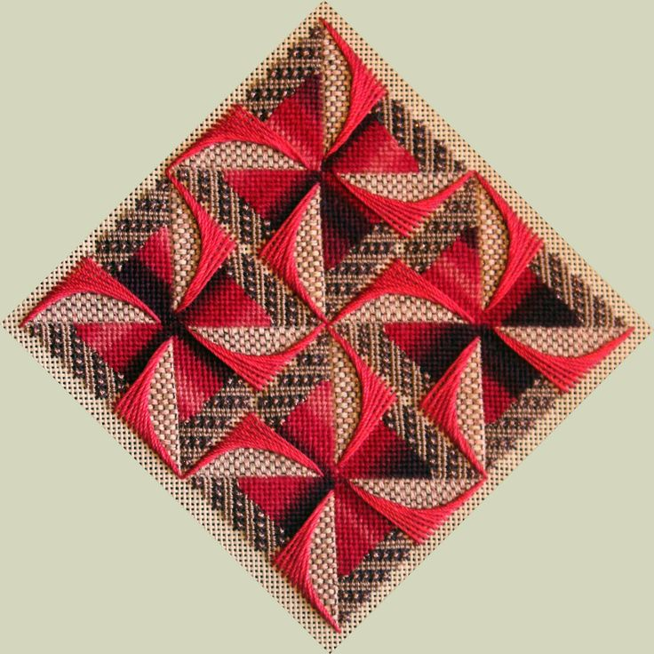 Windmills of Color, charted needlepoint