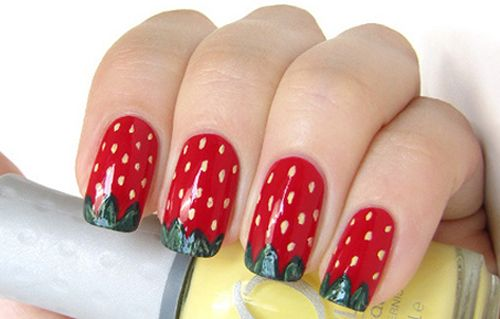 9 Cute Strawberry Nail Art Designs | Styles At Life