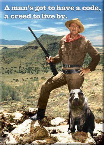 Hondo Lane and Dog from the movie adaption HONDO from the pen of Louis L'Amour, over 40 of his books were made into movies.