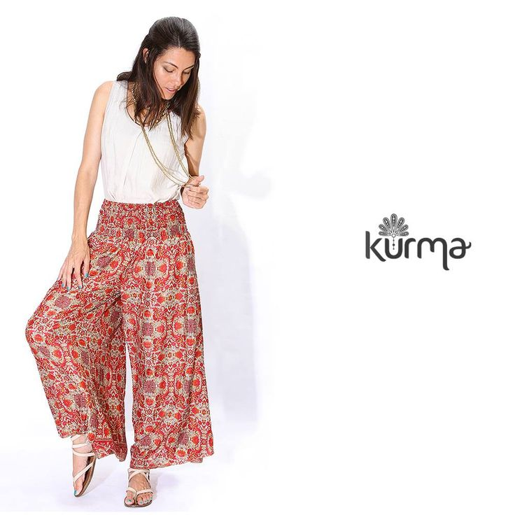 Confortable, chic, colourful, ethnic boho pant, to travel always with Style!!! 100% natural silk!
