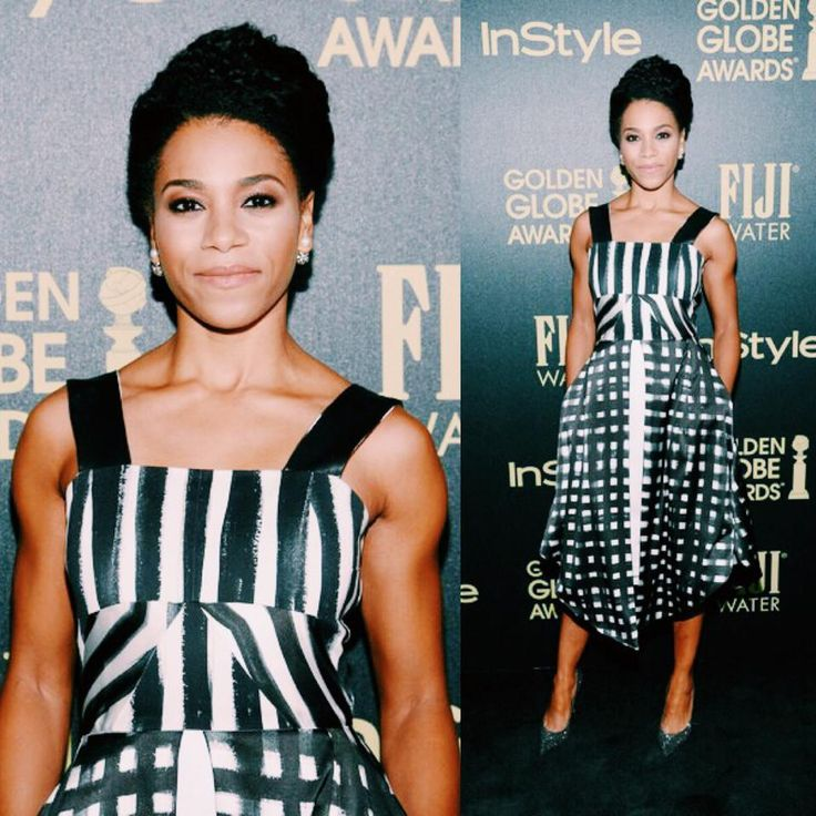 Actress Kelly McCreary is beautiful in ABODI hand painted pattern silk dress while attending Hollywood Foreign Press Association and InStyle Celebration of The 2016 Golden Globe Award Season at Ysabel on November 17, 2015 in West Hollywood, California.