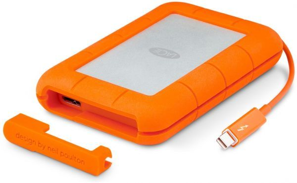 LaCie Rugged 2 TB USB 3.0 & Thunderbolt Series External HDD Hard Drive Designed by Neil Poulton price, review and buy in UAE, Dubai, Abu Dhabi | Souq.com