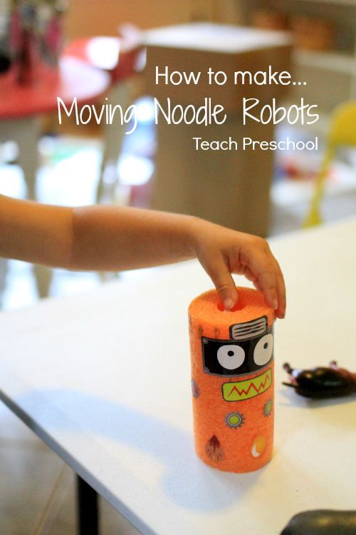STEAM : How to make moving noodle robots.                                         Gloucestershire Resource Centre http://www.grcltd.org/scrapstore