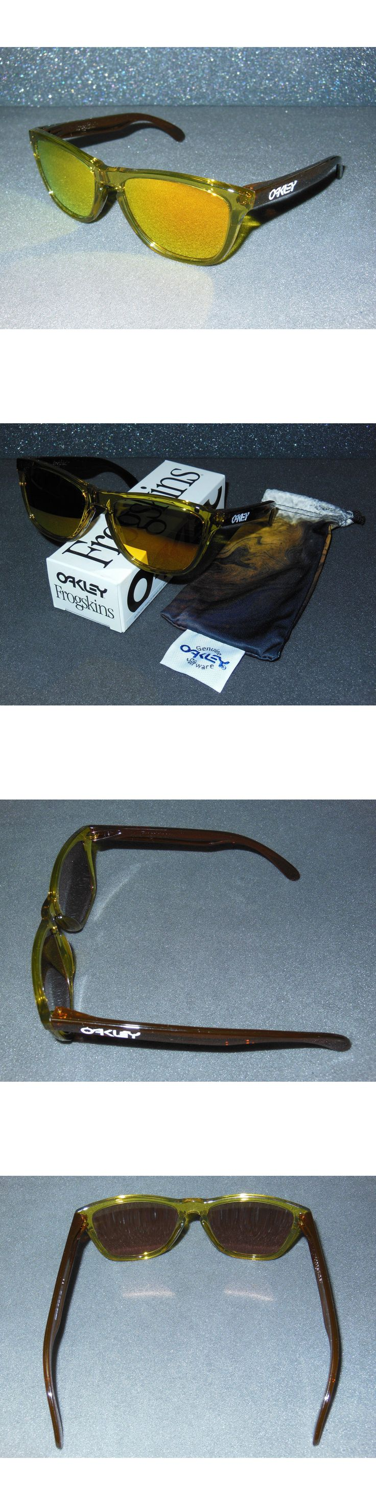 Sunglasses and Goggles 56185: New Blemished* Oakley Frogskins Sunglasses Moto Octane Fire Iridium Retro 80S -> BUY IT NOW ONLY: $79.95 on eBay!