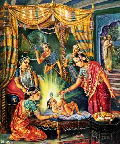 Sita Thakurani bestowing blessings and gifts upon Lord Gauranga