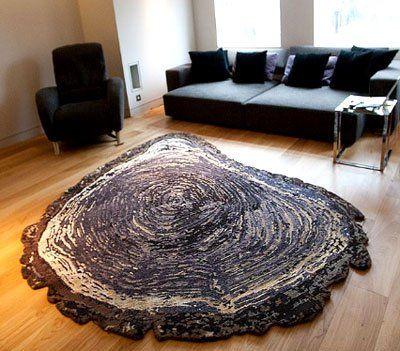 Tree Trunk - Wool & Silk - Contemporary Modern Area Rugs by Sonya Winner
