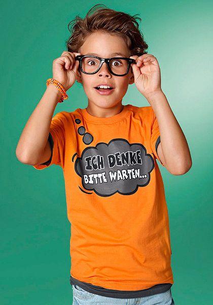 CFL Tričko pro chlapce, »Ich denke, bitte warten ...«