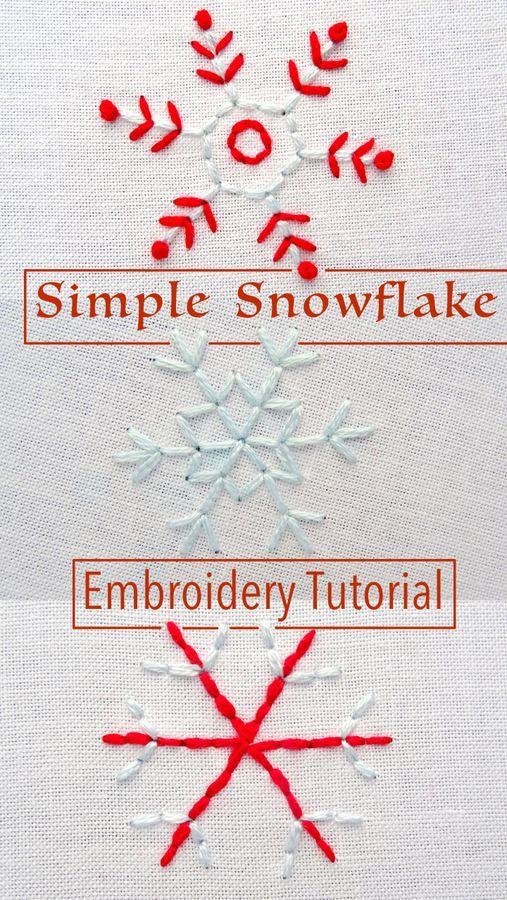 Simple Snowflake Embroidery Pattern | cosas2.0 | Pinterest | Bordado ...