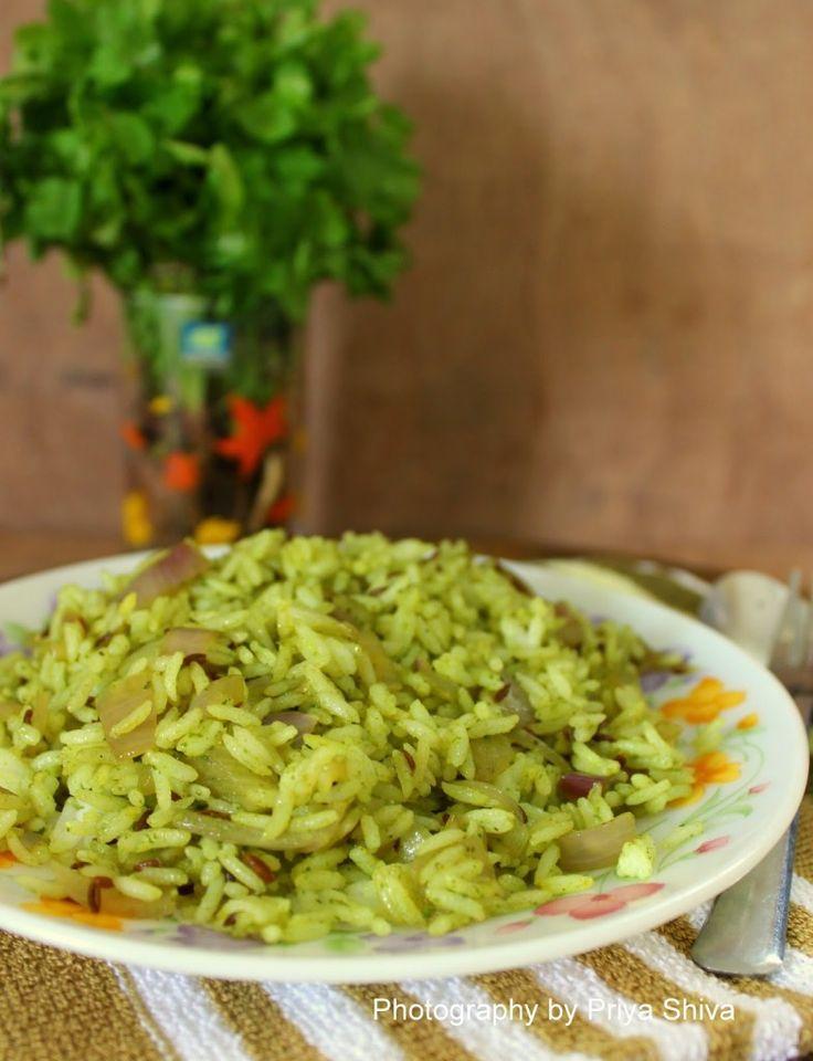 Kothamalli sadam - delicious Coriander flavoured #Rice !