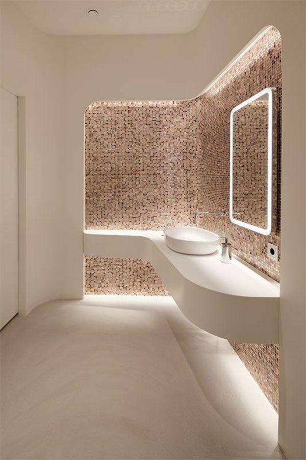 Bagno Con Mosaico E Resina Bagni Moderni Stile Bagno Design