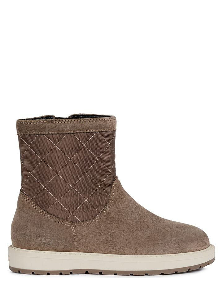 "Leather winter boot ""Noha"" in brown"