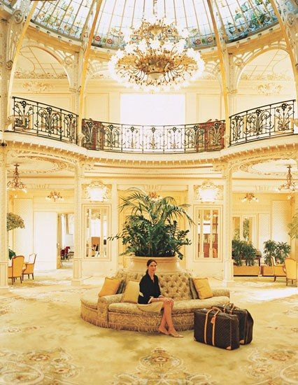 The palatial turn-of-the-century Hôtel Hermitage is one of Monte Carlo's signature properties. Here, the bling shines even brighter than the chandeliers. Luxury Hotel Interior Designs #hotelinteriordesings