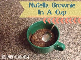 How to make a Brownie using Nutella and a few ingredients. Recipe is for one person.  #nutellbrownieinacup #brownierecipe #recipe