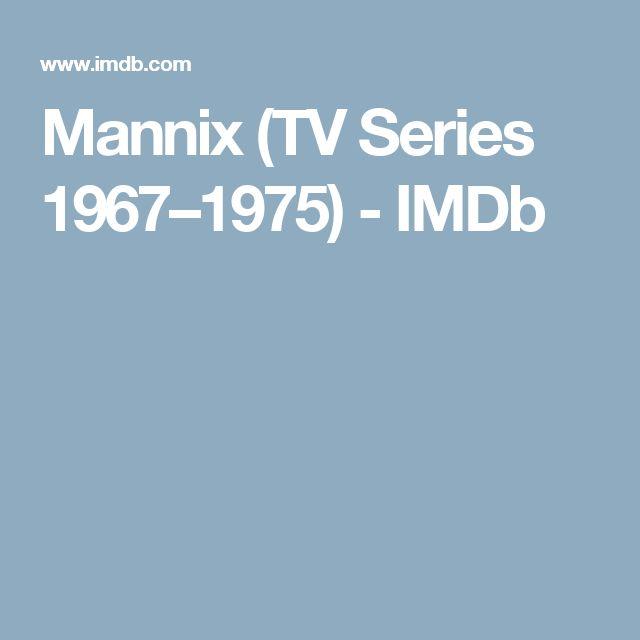 Mannix (TV Series 1967–1975) - IMDb