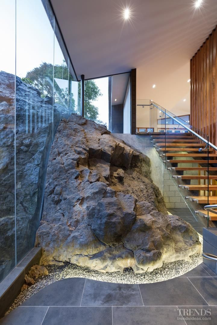 Beautiful #detail. Under the mountain – volcanic rock inside house