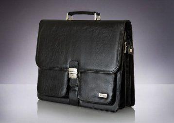 Skórzana męska aktówka, torba na laptop Verso Business Warsaw