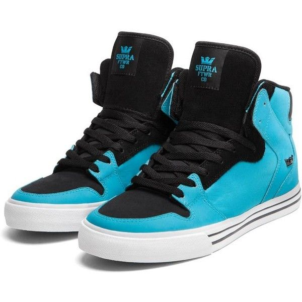 SUPRA Footwear (£78) ❤ liked on Polyvore featuring shoes, sneakers, supra, zapatos, high tops, supra shoes, high top sneakers, blue high top sneakers, blue shoes i blue high top shoes