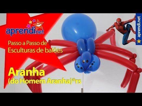 Aprendi.net: Esculturas de Balões - Aranha - Aranha do Homem Aranha - YouTube