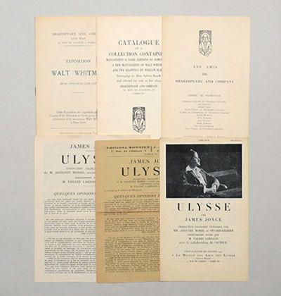 James Joyce and Shakespeare & Co. ephemera collection. Listed on Biblio by Peter Harrington.