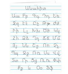 Image result for handwrite first five letters of the armenian alphabet