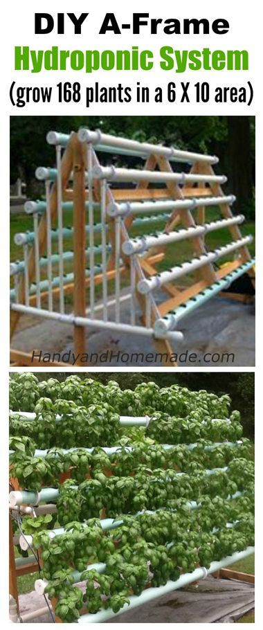 DIY A-Frame Hydroponic System, How To Grow 168 Plants In A 6 X 10 Area
