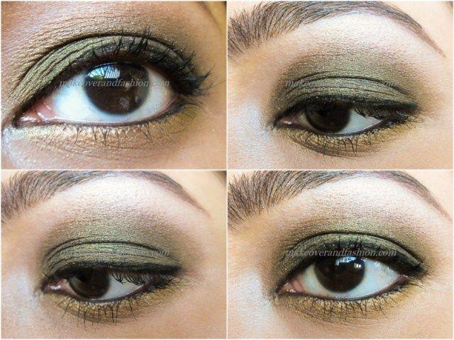 Eye Makeup For Green And Golden Dress Makeupview