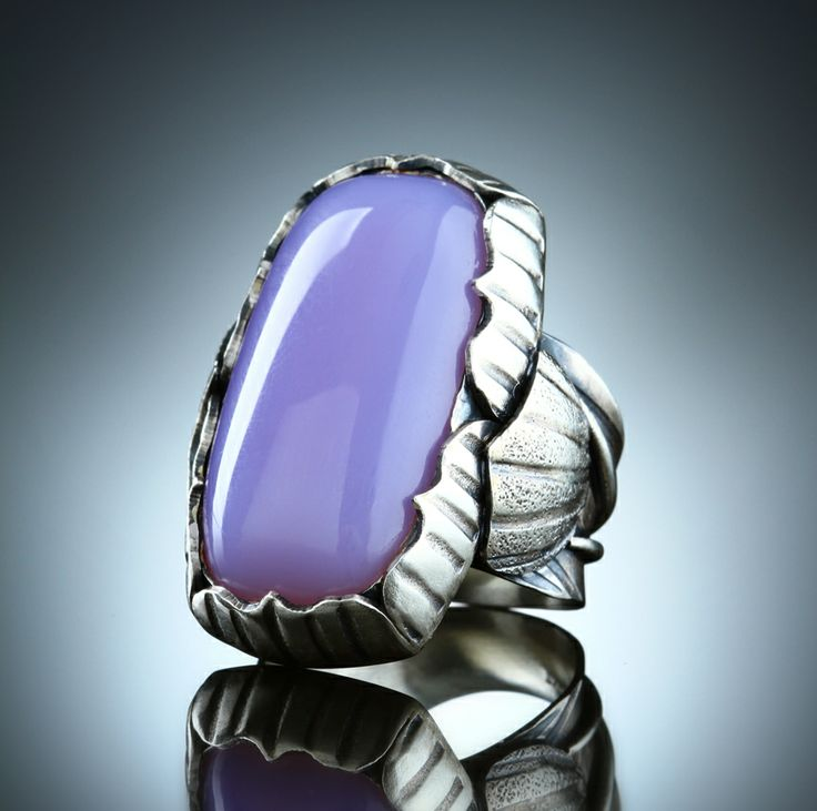Holly Blue Agate Ring. Fabricated Sterling Silver. www.amybuettner.com