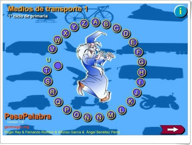 """""""Pasapalabra de Medios de Transporte"""" (Ciencias Sociales de Primaria)"""